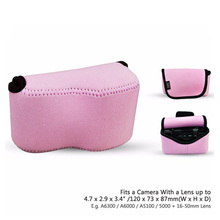 OC-S1P Pink Mirrorless Camera Pouch Case for Canon SX400 IS/SX410 IS/SX420 IS/SX510 HS, Nikon P7800/DL18-50, LX100(China)