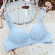 B CUP Girls Students Thin Breathable Wire Free Training Bras Young Girl Adjustment Bra Kids Intimates Children Underwear