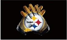 Pittsburgh Steelers American Football flag 90 * 150CM decorative 100D sports gloves free shipping NFL flag Super Bowl logo(China)