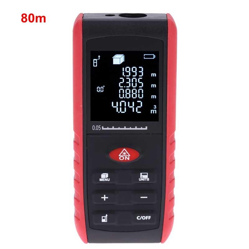 80m Laser Rangefinder Handheld Digital Distance Meter Laser Distance Meters Level Area Volume Angle Measuring tool <br><br>Aliexpress