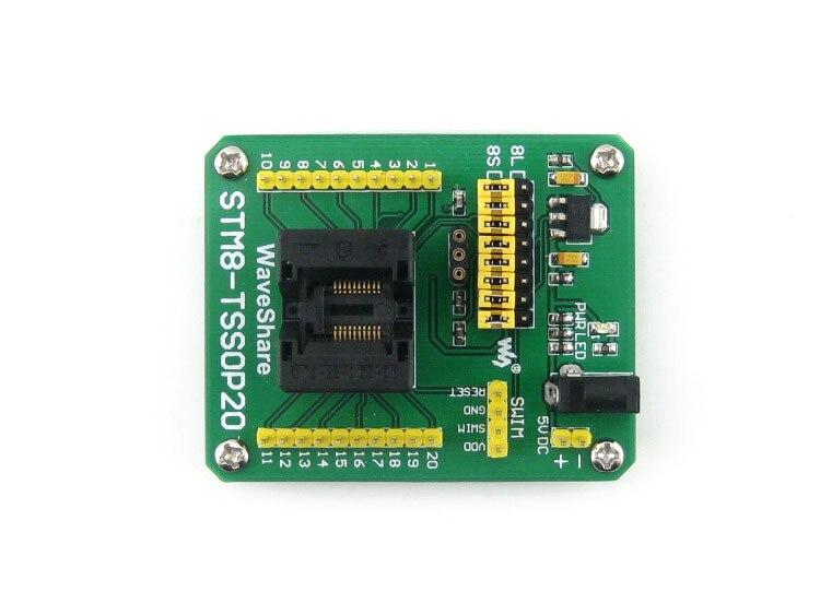 module STM8-TSSOP20 STM8 TSSOP20 Adapter IC Test Socket for TSSOP20 Package 0.65mm Pitch with SWIM Port<br>
