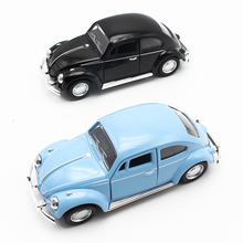 1:32 Classic Metal Beetle Cars Bubble Car Emulational Alloy Model Music Light Pull Back Collection Game Toys For Children