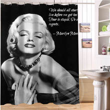 Custom marilyn monroe shower curtain new large European and American big print edition polyester shower curtain(China)