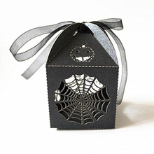 50pcs Cobweb Style Hens Night Out Fun Halloween Party Gift Favor Candy Boxes & Ribbons(China)