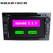 4 Core Android 7 For Opel Astra 2Din Car DVD Audio Player GPS For Vauxhall Opel Astra Vectra Antara Zafira Corsa 2G RAM 16G ROM