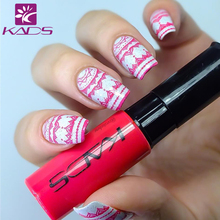 KADS Red Series Nail Art Stamping Print 1 Bottle Stamping Nail Lacquer of Acrylic Paint Tool for All Season Using Nail Polish(China)