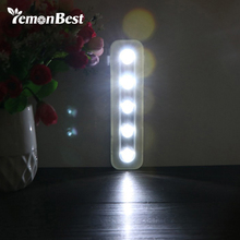 LemonBest Home Lighting for Under Kitchen Cabinets Mini 5 LED Night Light Closet Lamp Wireless Wall Light Use 3*AAA Battery(China)