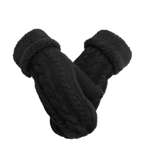 2017 Fashion New Women's Ladies Winter Mittens Fingerless Knitted Gloves Arm Warmer Gloves Full Finger Mittens Women Accessories(China)