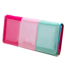 Hot Selling Designer Women Girl Wallet Colorful Long Wallet Small Fresh Wallet Mobile Phone Bag Female Fashion Cluth Bag(China)