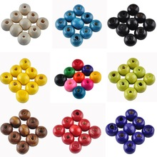 Top Quality 8MM 200pcs/lots Mix Color DIY/Handmade Round Wood Ball Spacer Bead for Fashion Jewelry Accessories
