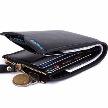 new 2017 men wallets Coin purse mens wallet male money purses Soft Card Case New classic soild pattern designer wallet 385-5(China)