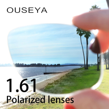 1.61 Index Polarized Prescription Sunglasses Lenses Night Vision Lens For Driving Anti UV Oil Water Reflect Glasses Lens(China)