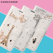 For Wiko fever 4G Cover 3D Diamond Wallet Bag for Wiko Fever 4G Case Glitter Flip PU Leather Stand Phone Coque for Wiko Fever(China)