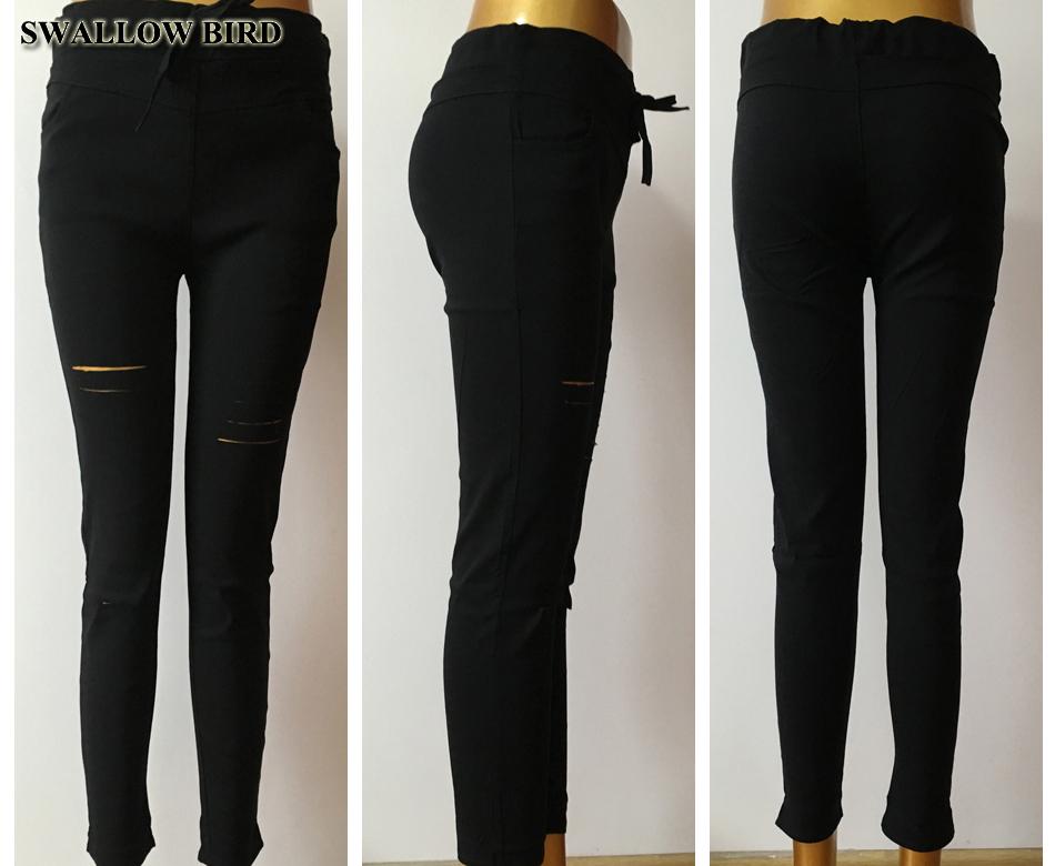 Women's Hollow Solid Cotton Leggings 18