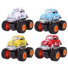 Children Cartoon Four-Wheels Car Model Alloy Simulation Vehicle Toys Diecast Kids Truck Boy Educational Toy Car Birthday Gift(China)