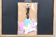 1pcs binary star baby unicorn Pendant Travel Name Tag Novelty toys(China)