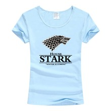 Buy STARK women t-shirt Game Thrones Shirt Winter coming stark wolf funny casual t shirt womens summer tshirt women clothing for $6.99 in AliExpress store