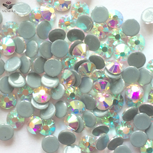 YANRUO 2058HF SS6-SS30 Crystal AB HotFix Rhinestones Crystals And Stones Iron On HotFix FlatBack Rhinestones Stones For Clothes