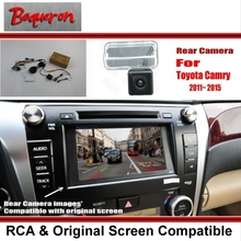 Car Rear View Camera / Back Up Reverse Camera Sets For Toyota Camry XV50 2012~2015 / RCA & Original Screen Compatible