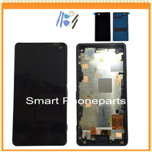 For Sony for Xperia Z3 mini Compact D5833 D5803 LCD Screen with Touch Display Digitizer frame assembly + tools + back cover