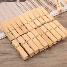 20pcs/pack Multi-function Best quality Mini bamboo Wooden Clothes Photo Paper Peg Clothespin Laundry Hangers Craft Clips(China)