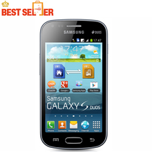 Unlocked Original Samsung Galaxy S duos S7562 Dual sim cards 3G Wifi Bluetooth GPS 4.0''Inch 5MP Camera Refurbished Mobile phone