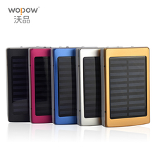 WOPOW Portable Solar Power Bank 10000MAH bateria externa portatil LED External Mobile Phone Battery Charger Backup Powerbank