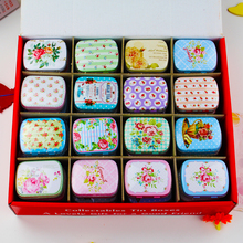 New Hot!! 48 Pieces/lot Many Color Tin Box Mac Makeup Cosmetic Jewelry Box Mini Tea Container Household Best Gift For Girls