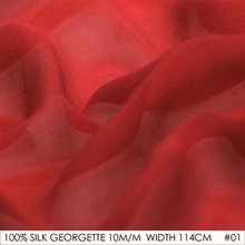 100% SILK Georgette Fabric Pure Silk Fabric 10 momme 114cm Width Wedding Dress Silk Gauz Fabric Free Shipping China Red Color 01