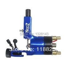 High Quality  Powered System NEDZ  Rotary Tattoo Machine Blue tattoo gun liner & shader Free shippng hot sale