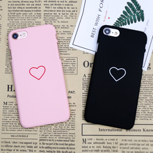 Buy Shockproof Ultra Slim Hard Plastic Cover iPhone 6 6s 7 8 Plus Lover Heart Protect case iphone 7 Plastic phone Coque for $1.23 in AliExpress store