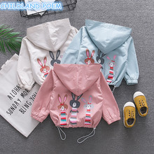 Baby Cartoon Coat Spring Baby Outerwear Hooded Autumn Toddler Windbreaker Baby Clothes Casual Baby Boys Girls Print Coat Clothes(China)