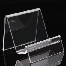 Display shelf commodity shelf clear acrylic exhibition tools show digital items stand jewelry organizer mobile phone frame rack(China)