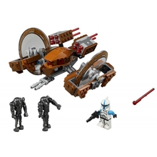 LegoINGlys Star Wars 10370 163pcs Blocks set Attack of the Clones Hailfire Droid Sets Brick Toys for Children Compatible(China)