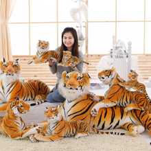 2016 new lovely style yellow Simulated tiger plush toys Tiny Tots Room Decor animals stuffed cloth doll kids toys Imitate Toys