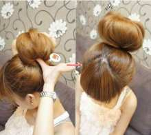 Gold DIY Charming Boho Bohemian Fashion Hair Wig Synthetic Chignon Hair Bun Ring Donut Roller Hairpieces Cool