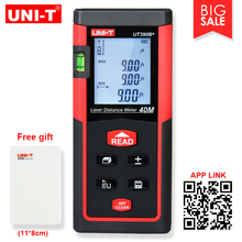 UNI-T Distance Laser Meter UT390B+ 40M Bubble Level Rangefinder Range Finder Tape Measure Area/Volume Ditance Meter with BOX