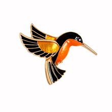 New Arrival Personality Fashion Jewelry Birds Black Yellow Brooches Animal Lapel Pin Gift Classic Brooch Suit Pin Hot Sale XS245(China)