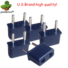 U.S.Brand high quality! 5 pcs US to EU Plug adaptor plug convertor plug adaptor Travel Adapter US to EU power plug convertor