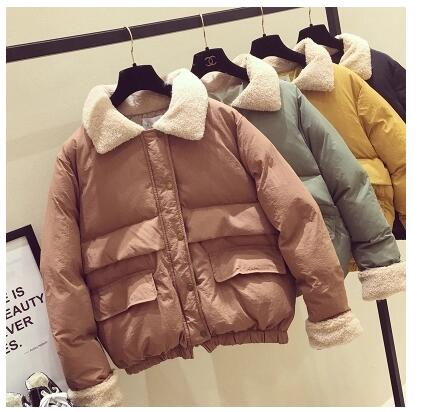 2017 winter new coat loose padded jacket casual short paragraph bread clothes women<br>