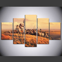 2017 Hot Sale Modern Painting on Canvas Oil Cuadros Decoracion Art Modular Pictures Unframed 5Pcs Wall Pictures For Living Room(China)