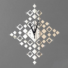 #s Square Wall clock fashion creative clock clock and mirror wall clock Personality beautiful and nice high quality