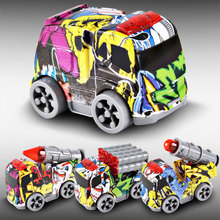2018 New Mini Camouflage toy car Model Rocket laser car bus Model Military Toy Collection Vehicle Gift for Boys(China)