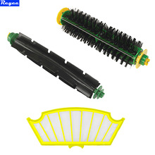 1 Set Bristle Brush + Flexible Beater Brush + Filter Replacement for iRobot Roomba 500 510 520 560 570 580 Cleaner Parts(China)
