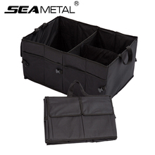 Car Trunk Organizer Storage Auto Folding Storage Box Rear Trunk Bag Durable Cargo For Truck SUV Auto Stowing Tidying Accessories