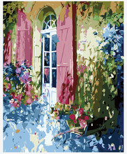 Frameless Painting Picture By Number Wall Arcylic Paint Landscape Gift 40X50 Flower House Coloring By Number Atrs New Gift(China)