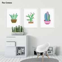 Cactus Decor Posters and Prints Wall Art Wall Pictures for Living Room Decorative Pictures Poster Nordic Minimalist Canvas Print(China)
