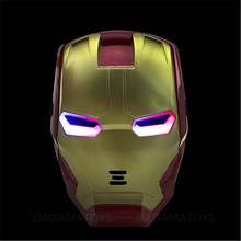 The Avengers 2 Figures Toys Iron man Motorcycle Helmet Mask Tony Stark Mark Cosplay with LED Light Action Figure Kids Gift FW154