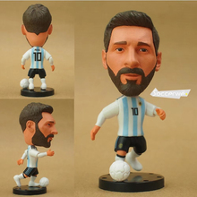 "Soccer Player Star 10# MESSI (ARG-2018) 2.5"" Toy Doll Figure(China)"