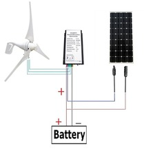 560W/H Hybrid System: 400Watt Wind Turbine Generator &160W mono solar panel 12V(China)